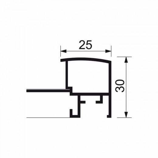 A4-billedramme med 25mm aluprofil-09
