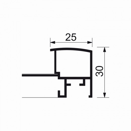 A3-billedramme med 30 mm aluprofil-07