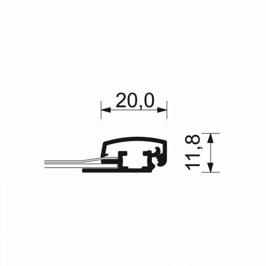 A2-ramme med 20mm aluprofil afrundet-01