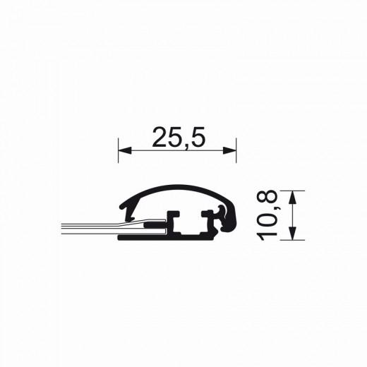 A2-ramme med 25mm aluprofil-01