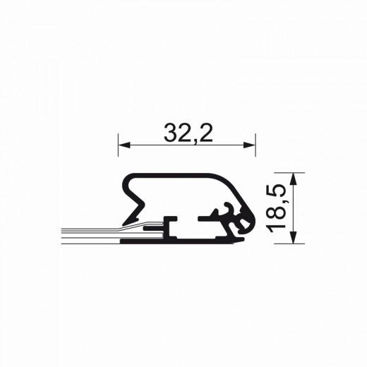 A0-ramme med 32mm aluprofil afrundet-01