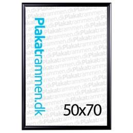 50x70cmrammemed25mmfarvetprofilsort-20